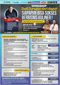 Workshop Jadi Juragan Dapur (Bisnis Kuliner) 5 Mei 2016 Tokomesin Solo