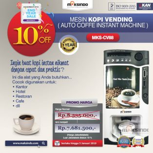 Jual Mesin Kopi Instant (Auto Coffee Instant Machine) di Solo