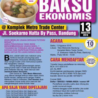 Training Usaha Bakso di Bandung 13 Agustus 2016