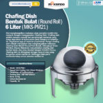 Jual Chafing Dish Bentuk Bulat (Round Roll) 6 Liter di Solo