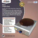 Jual Mesin Crepes Gas Double Pan (DE8Ax2) di Solo