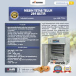 Jual Mesin Tetas Telur Industri 264 Butir (Industrial Incubator) di Solo