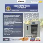 Jual Mesin Tetas Telur Industri 528 Butir (Industrial Incubator) di Solo
