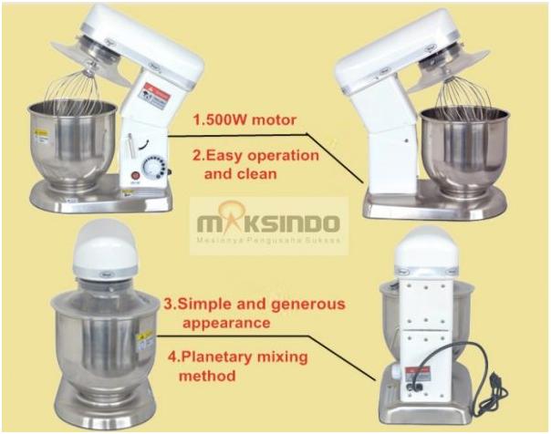 Mesin Mixer Planetary 5 Liter (MPL-5) 3 tokomesin solo