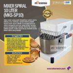 Jual Mixer Spiral 10 Liter (MKS-SP10) di Solo