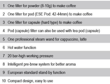 Mesin Kopi Espresso Semi Auto - MKP50 3 tokomesin solo