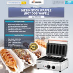 Jual Mesin Stick Waffle (hot dog wafel) di Solo