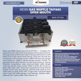 Jual Mesin Gas Waffle Taiyaki Open Mouth (GTYK31) di Solo