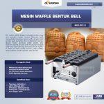Jual Mesin Waffle Bentuk Bell (MKS-BELL5) di Solo