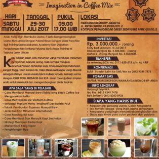 Workshop Coffee, 29-30 Juli 2017
