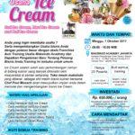 Training Usaha Ice Cream, 1 Oktober 2017