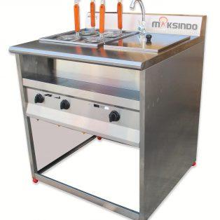 Jual Gas Pasta Cooker With Bain Marie (4 Baskets) MKS-PCBM4 di Solo