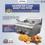 Jual Counter Top 2-Tank 2-Basket Gas Fryer di Solo