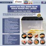 Jual Mesin Egg Roll Sosis Telur Snack Maker 4in1 Listrik di Solo