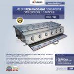 Jual Pemanggang Serbaguna Full Stainless – Gas BBQ Grill 6 Tungku di Solo