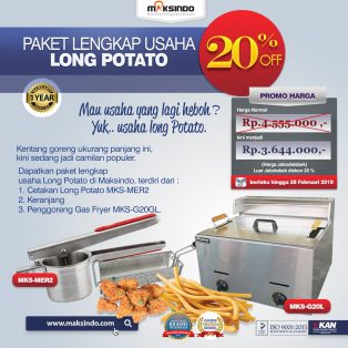 Jual Paket Mesin Long Potato Kentang Panjang di Solo