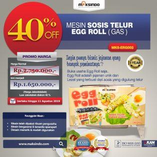 Jual Mesin Pembuat Egg Roll (Gas) MKS-ERG002 di Solo