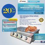 Jual Pemanggang Serbaguna Full Stainless – Gas BBQ Grill 4 Tungku di Solo