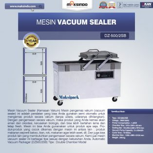 Jual Mesin Vacuum Sealer (DZ500/2SB) di Solo