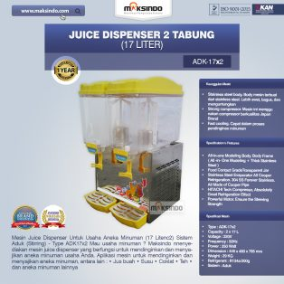 Jual Juice Dispenser 2 Tabung (17 Liter) – ADK17x2 di Solo