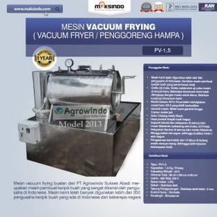 Jual Mesin Vacuum Frying Kapasitas 1.5 kg di Solo