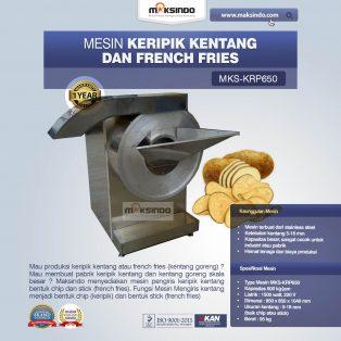 Jual Mesin Keripik Kentang dan French Fries KRP650 di Solo