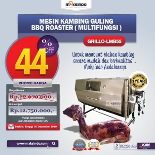 Jual Mesin Kambing Guling Double Location Roaster (GRILLO-LMB55) di Solo
