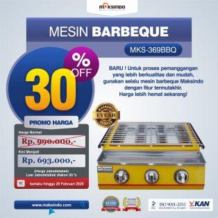 Jual Mesin Pemanggang Sate – BBQ 3 Tungku (Gas) MKS-369BBQ di Solo