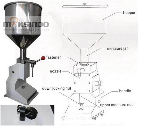 Jual Mesin Manual Filling Cairan-Pasta – MKS-MF10 di Solo