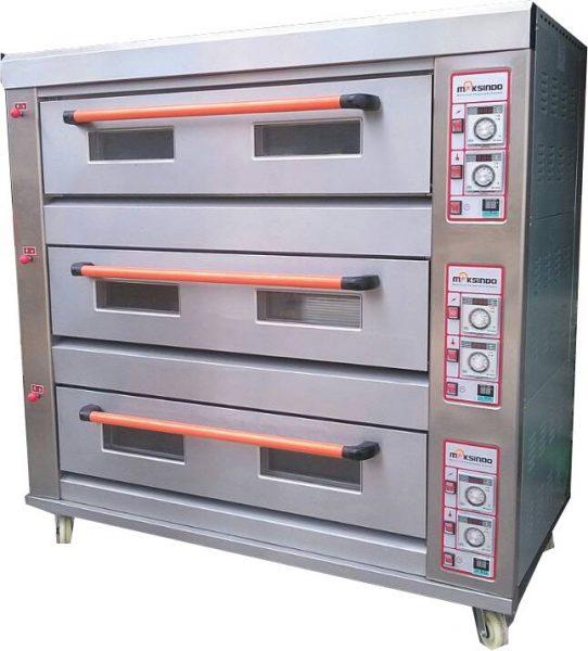 Jual Mesin Oven Roti Gas 3 Rak 9 Loyang (GO39) di Solo