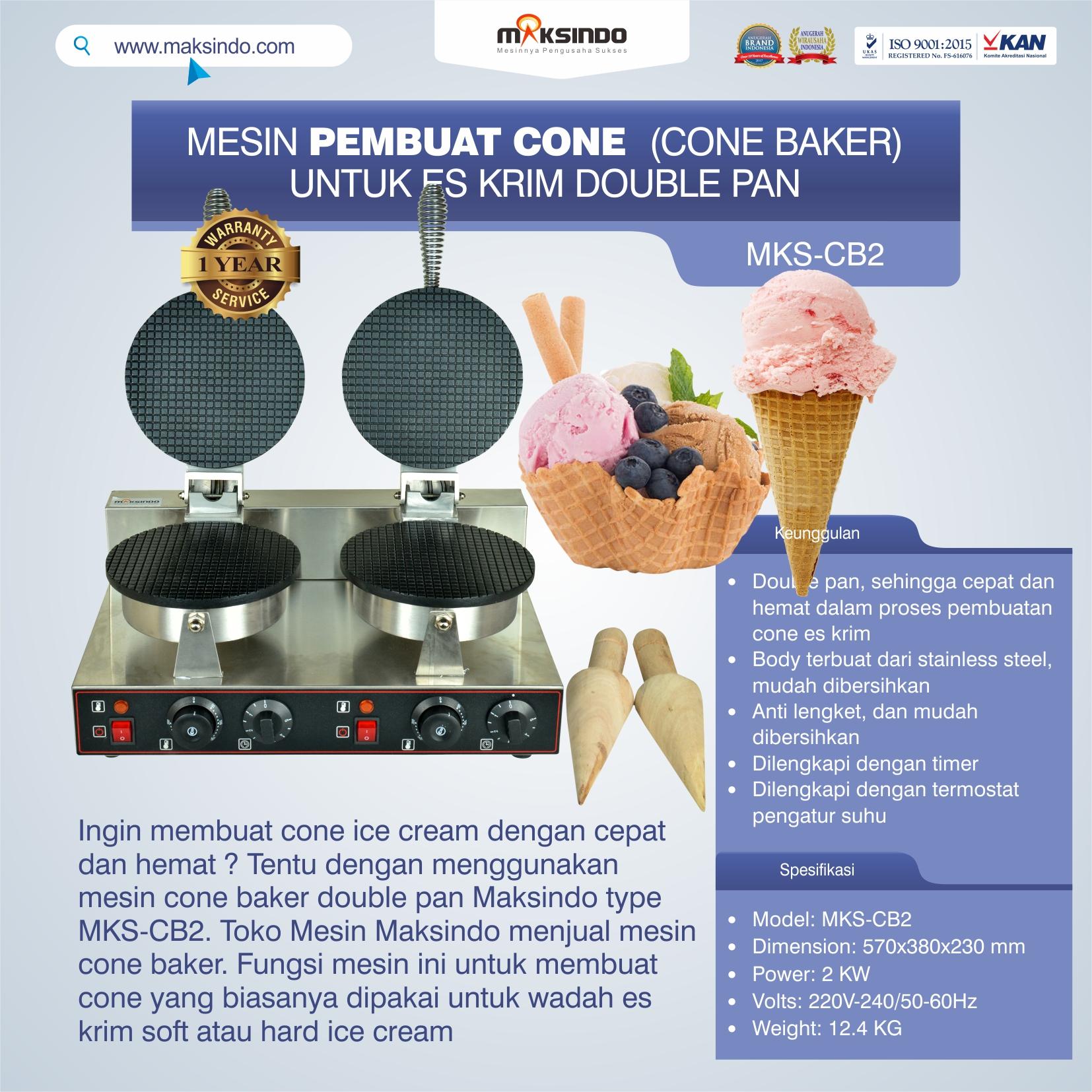 Jual Pembuat Cone Ice Cream (CB2) di Solo