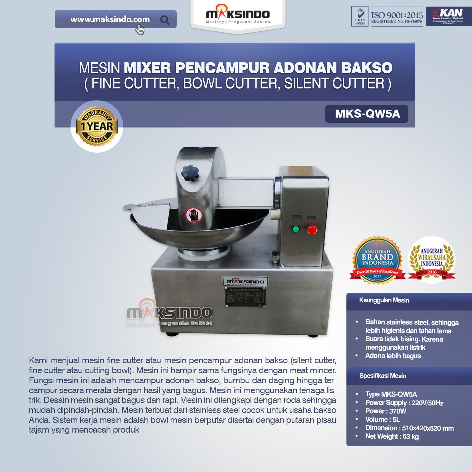 Jual Mesin Adonan Bakso (Cut Bowl / Silent Cutter / Fine Cutter) di Solo
