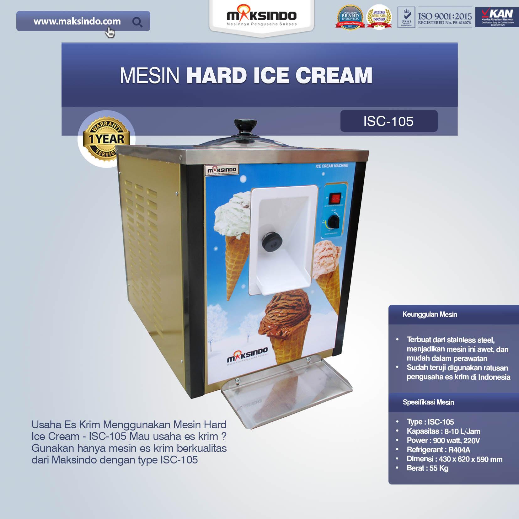 Jual Mesin Hard Ice Cream (Italia Compressor) – ISC-105 di Solo