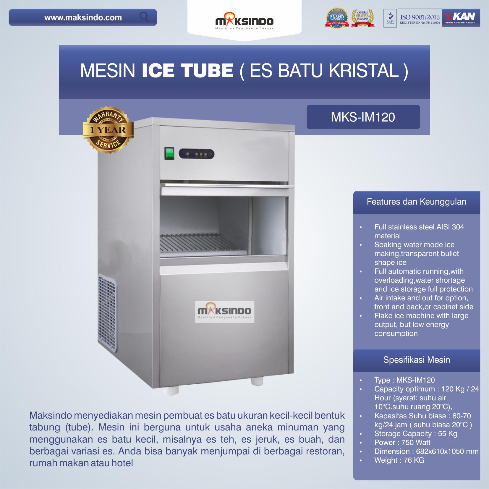 Jual Mesin Ice Tube (Es Batu Kristal) – IM120 di Solo