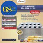 Jual Mesin Pembuat Egg Roll (Listrik) GRILLO-10SS di Solo