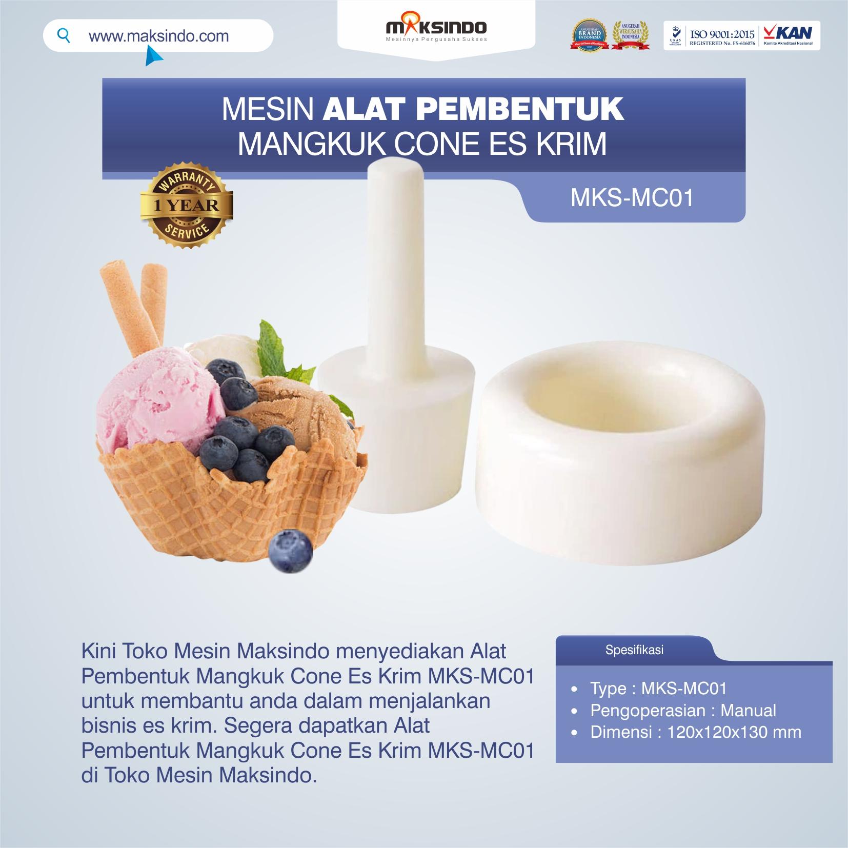 Jual Alat Pembentuk Mangkuk Cone Es Krim MKS-MC01 di Solo