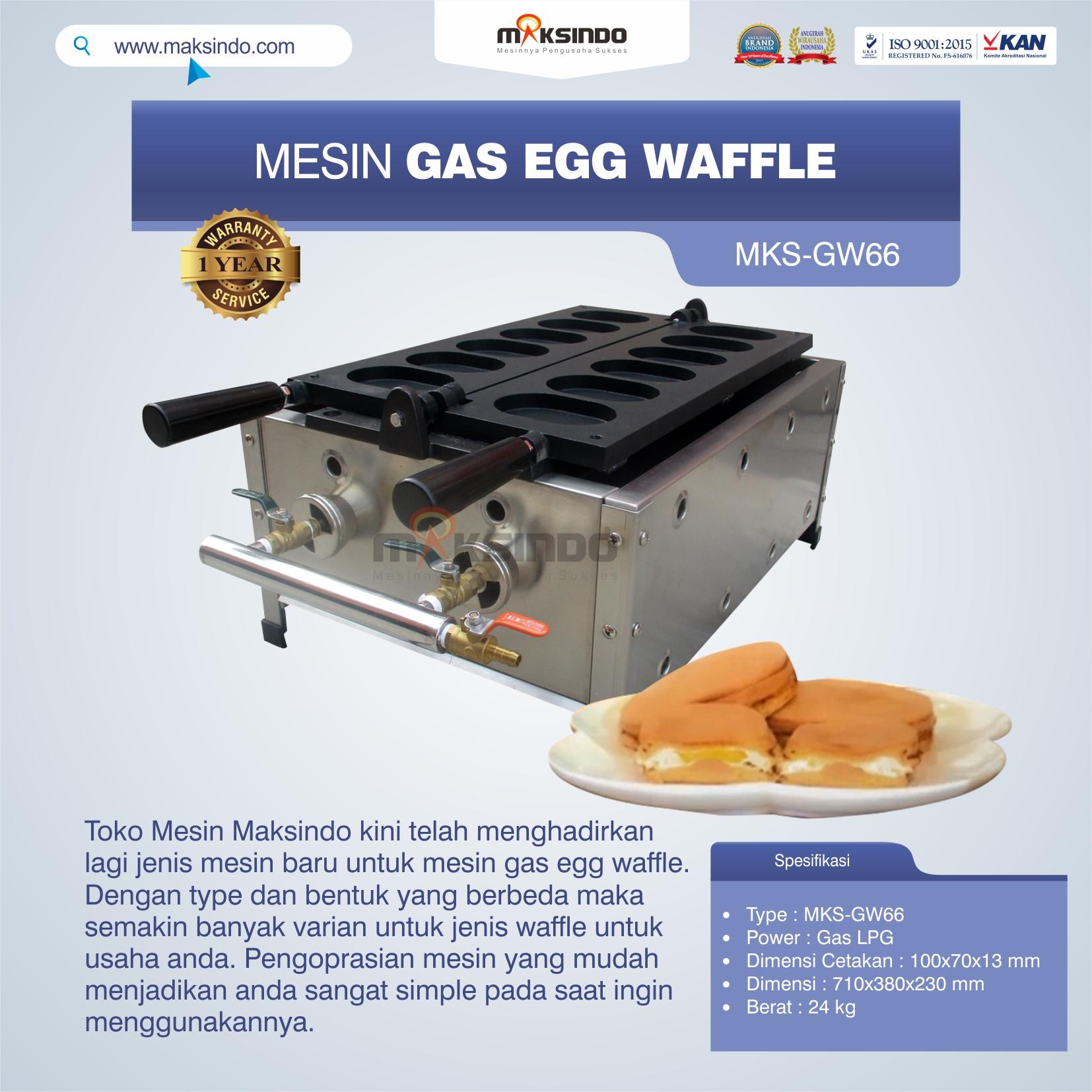 Jual Mesin Gas Egg Waffle MKS-GW66 Di Solo