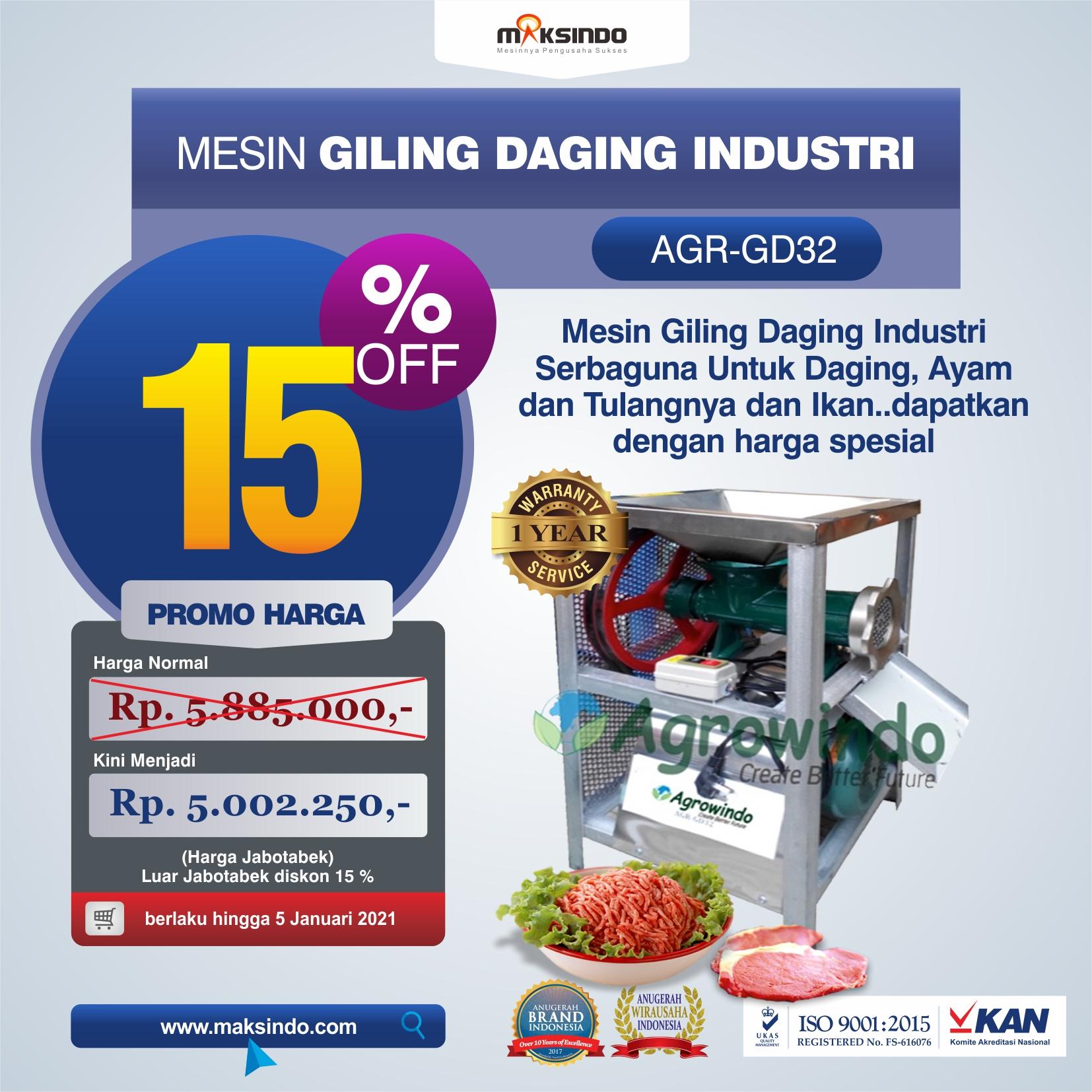 Jual Mesin Giling Daging Industri (AGR-GD32) di Solo