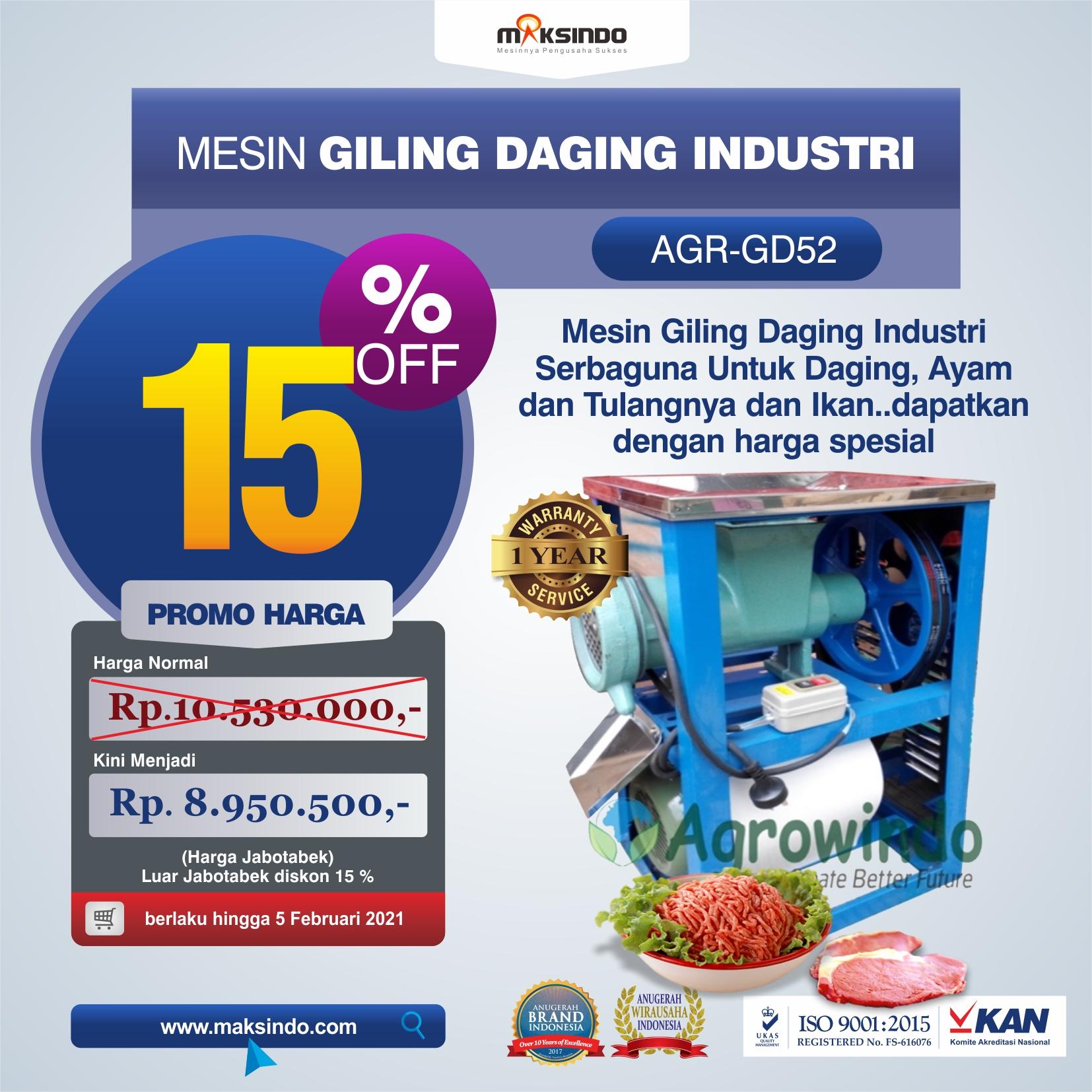 Jual Mesin Giling Daging Industri (AGR-GD52) di Solo