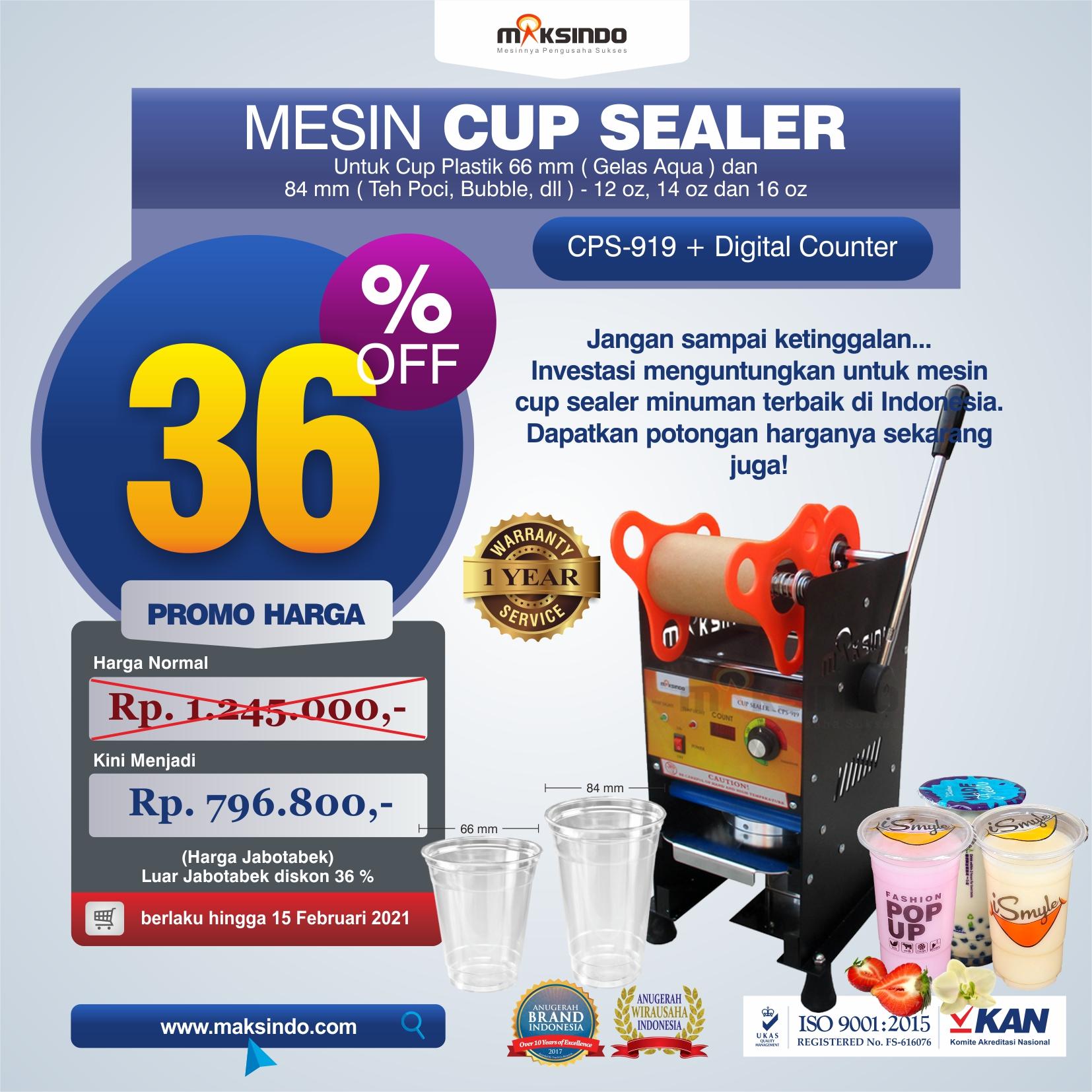 Jual Mesin Cup Sealer Manual CPS-919 di Solo