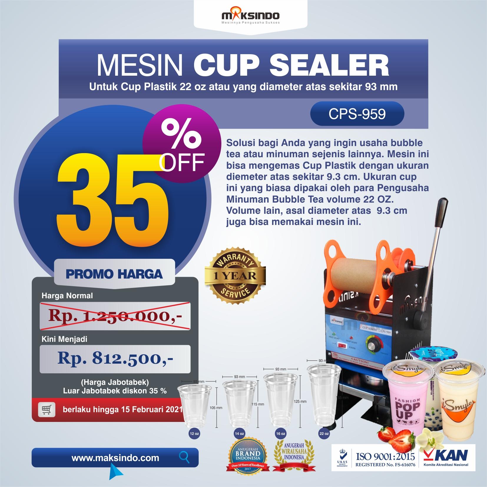 Jual Mesin Cup Sealer CPS-959 di Solo