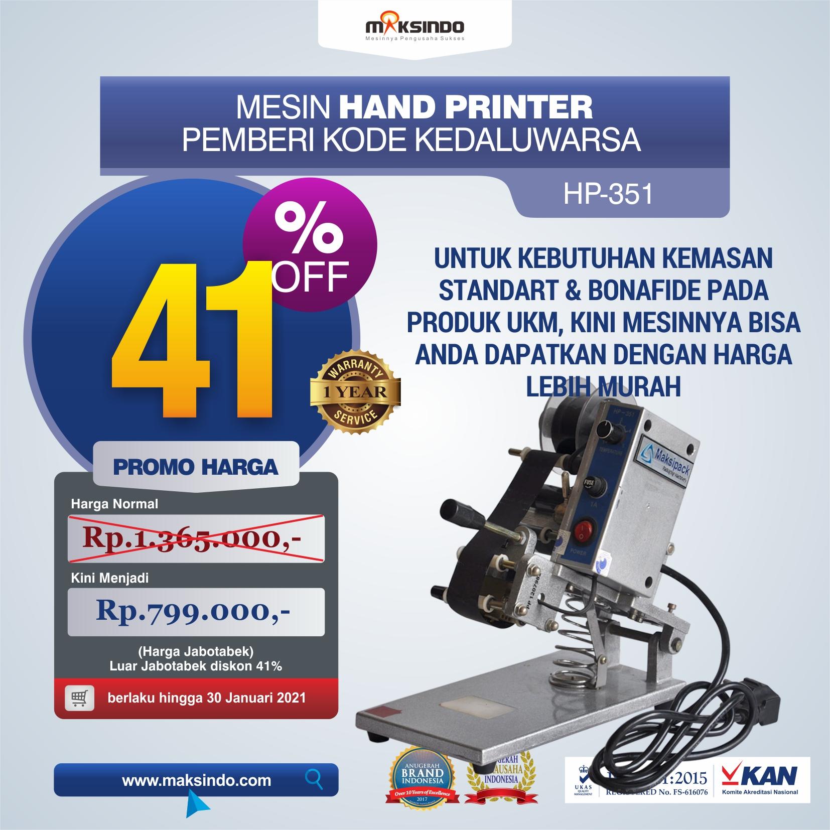 Jual Mesin Hand Printer (Pencetak Kedaluwarsa) di Solo