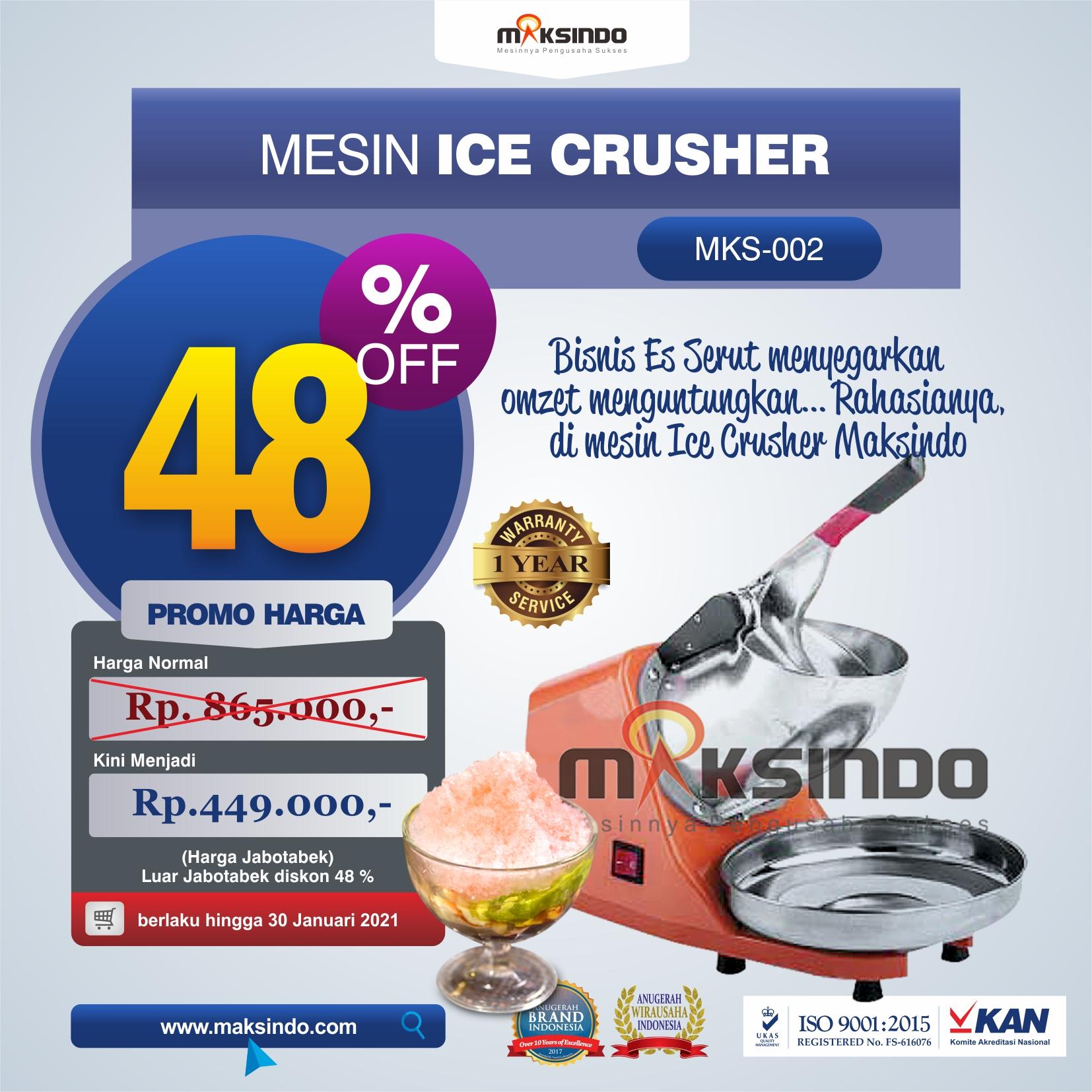Jual Mesin Es Serut (Ice Crusher) di Solo
