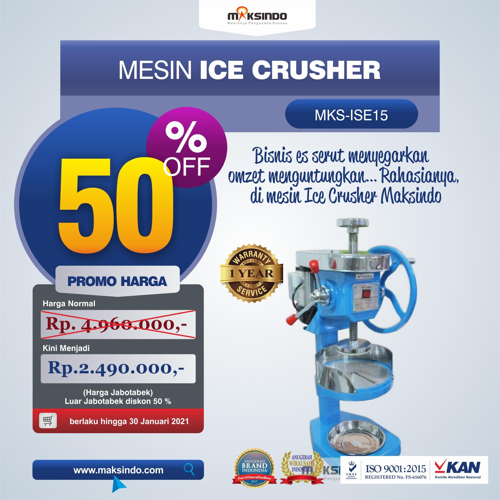 Jual Mesin Ice Crusher MKS-ISE15 di Solo