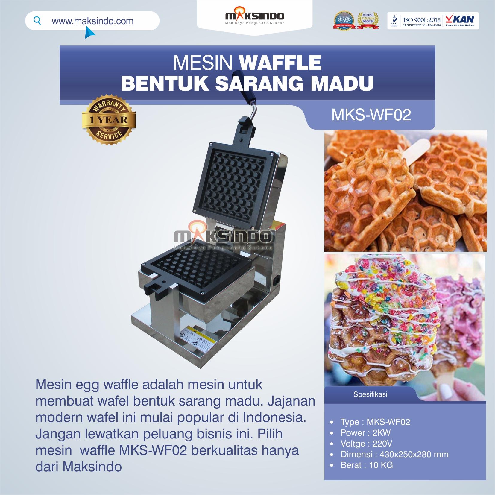 Jual Mesin Waffle Bentuk Sarang Madu MKS-WF02 di Solo