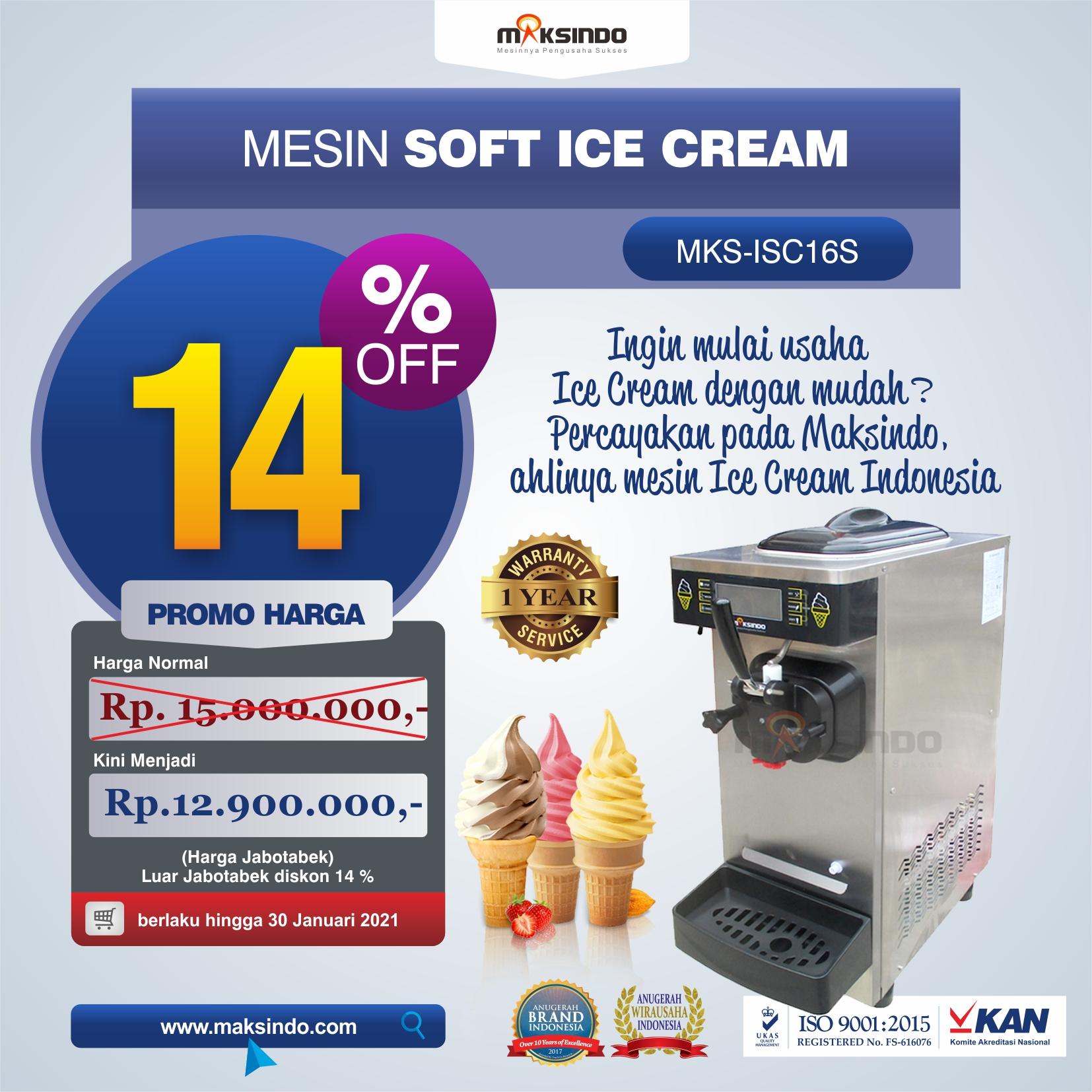 Jual Mesin Soft Ice Cream ISC-16S di Solo